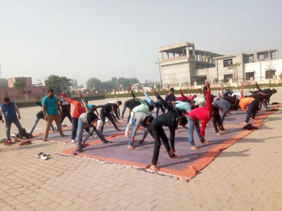 Yoga Day and English Speaking Day